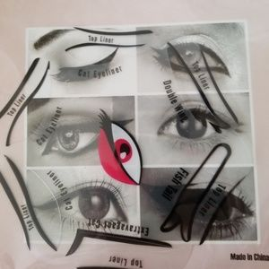 Other - Eyeliner Stencil with 12 Eyeliner Shapes/Cutouts